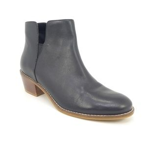 Cole Haan Abbot Black Leather Ankle Bootie Boots